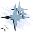 Group of four-pointed star vector image vector image