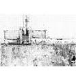 Grunge halftone ink background vector image vector image