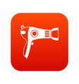 hairdryer icon digital red vector image vector image