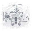 hippopotamus helicopter vector image vector image