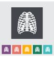 human thorax vector image vector image