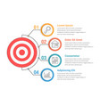 infographic template with target vector image vector image