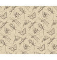 insects sketch decorativeseamless pattern vector image vector image