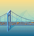 large bridge vector image