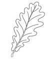 leaf of oak tree contour vector image