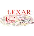 lexar bid is inadequate text background word