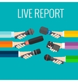 live report vector image