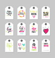 love mom tags set isolated happy mother day vector image