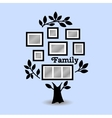 Memories tree with frames vector image vector image