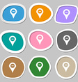 Minus Map pointer GPS location icon symbols vector image