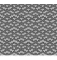 monochrome seigaiha luxurious japanese pattern vector image