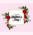mothers day card with exotic flowers plants vector image vector image