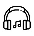 music headphones and musical notes icon vector image vector image