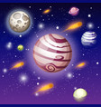 open book with space elements - solar system vector image vector image