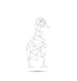 origami duck isolated vector image vector image