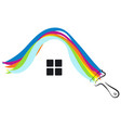 paint house symbol vector image vector image