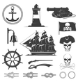 Pirates Decorative Vintage Graphic Icons Set vector image vector image