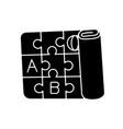 play mat black glyph icon vector image