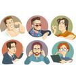 portraits of men vector image vector image