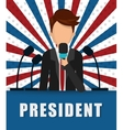 Presidents icon design vector image vector image