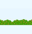 repeat background garden landscape theme flat vector image vector image