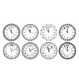 round 2020 clock new year countdown watch face vector image
