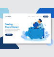 save money with piggy bank concept vector image