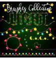 set of color garlands festive decorations light vector image