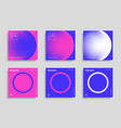 set trendy abstract design template with vibrant vector image