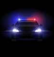 sheriff police car at night with flashing light vector image vector image