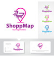shop map logo designs vector image vector image