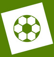 soccer ball sign white icon obtained as a vector image