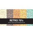 square pattern set retro 70s seamless geometric vector image vector image