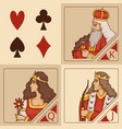 stylized characters of card games vector image vector image