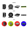 system unit memory card and other equipment vector image vector image