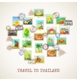 Thailand Postcard Poster vector image