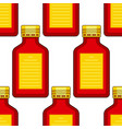 tinted glass bottles pattern vector image
