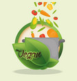 vegan food diet healthy nutrition vector image vector image
