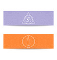 yoga class and studio template banner vector image vector image