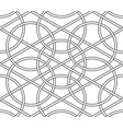 interlaced circles seamless line geometric vector image