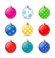 set of color christmas balls on a transparent vector image