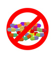 Stop doping Ban dope It is forbidden to take vector image