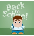 Welcome back to school character design vector image