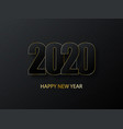 2020 happy new year background luxury dark with vector image