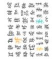 50 hand lettering inscription about autumn sale vector image