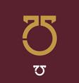 75 seventy five symbol conceptual vector image
