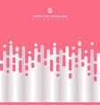 abstract pink rounded lines halftone transition vector image vector image