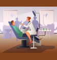 appointment at dentist flat composition vector image vector image