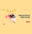 baby shower celebration website landing page vector image vector image