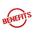 benefits stamp vector image vector image